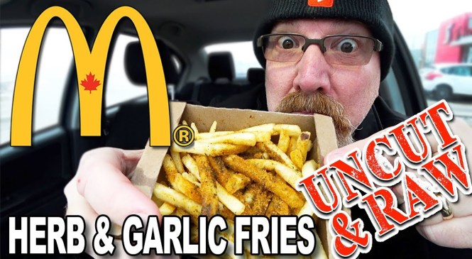 "🌿🍟 McDonald's Herb & Garlic Fries 🍟 Food Review ""UNCUT & RAW!"" (YES! it's UNEDITED FOOTAGE!)"
