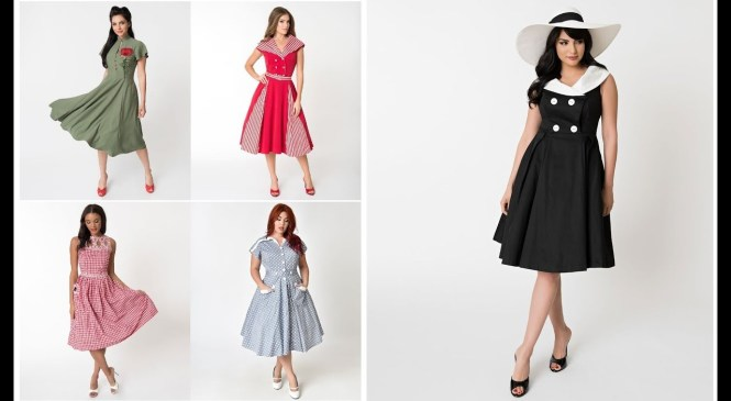 Vintage Outfits Ideas 2018-19=50's Style Fashion Trend Dresses For Girls