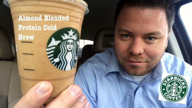 Starbucks Almond Protein Blended Plant Based Cold Brew Drink Review