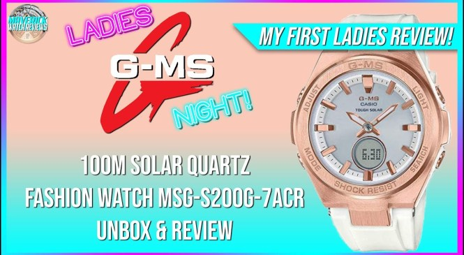 My First Ladies Review!   G-Shock G-MS 100m Solar Quartz Fashion Watch MSG-S200G-7ACR Unbox & Review