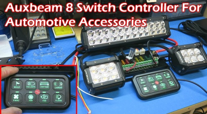 AUXBEAM 8 Switch Controller For Automotive Lighting and Accessories