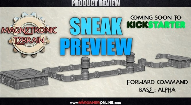 Product Review: Miniature Forge, Magnetronic Terrain range kickstarter exclusive preview!