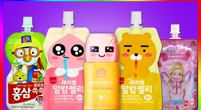 AMAZING! cute character is drink? world's most lovely kids beverage review #Learn colors #Alphabet