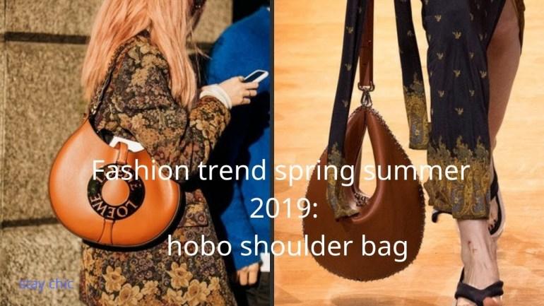 Fashion trend spring summer 2019 hobo shoulder bag