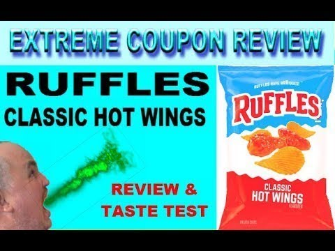 RUFFLES CLASSIC HOT WINGS POTATO CHIPS TASTE TEST PRODUCT REVIEW w/ NUTRITIONAL INFO IN DESCRIPTION