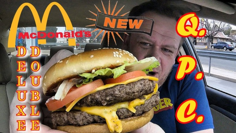 McDonald's NEW! ☆DELUXE Double Quarter Pounder w/Cheese☆ Food Review!!!