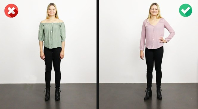 How To Widen Hips and Reduce Broad Shoulders | 6 Outfits