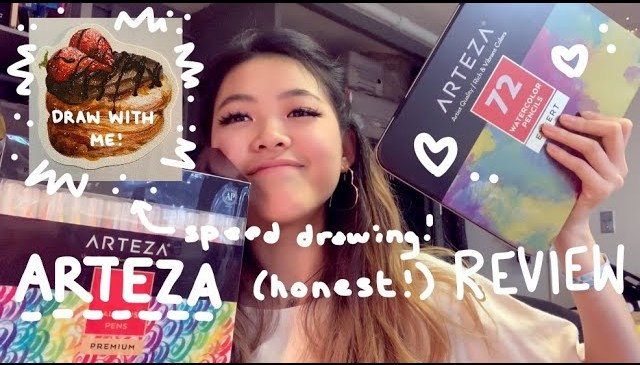 DRAW WITH ME! | ARTEZA product review | Tiffany Weng
