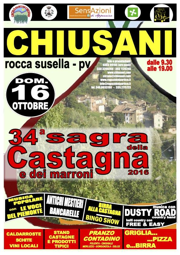 Chestnut festival in Chiusani, Oltrepò