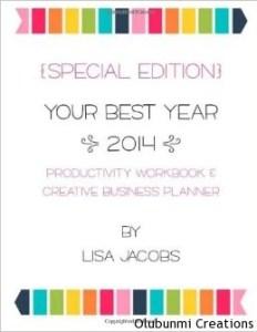 BestYear2014 Goals book by Lisa Jacobs