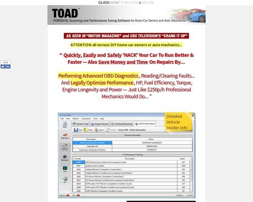 TOAD PRO: OBD Scanner Software for ELM327 on OBDII OBD2 Cars