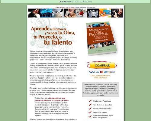 Mercadotecnia Para Proyectos Artisticos | Libro Electronico