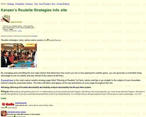 Roulette Strategies Homepage