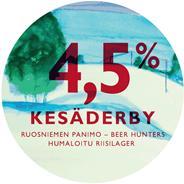 Beer Hunters & Ruosniemi Kesaderby hanaetiketti