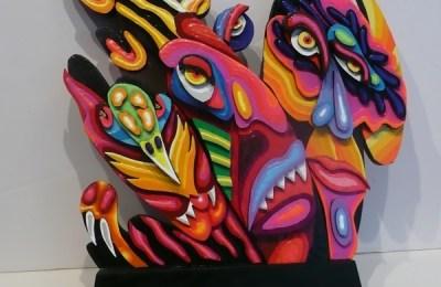 """Jungle Crossing"" acrylic on wood by Bernie Bleha, 2015. Photo courtesy SPSCC."