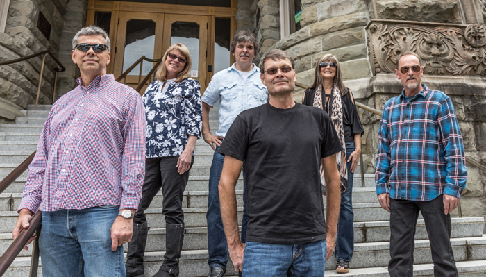 Brian Ferris, Deb Rutter, Vince Chavez, Tim Stensager, Lorraine Stensager and Evan Ogden are Blind Facsimile.