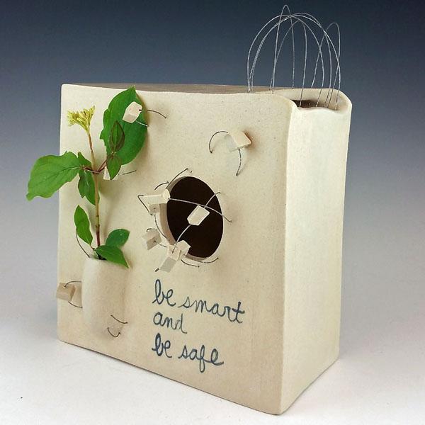"""Wildflower 2,"" ceramic by Nicole Gugliotti"