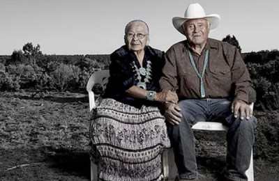 Robert and Fannie Mitchell. Tribal affiliation: Dine. Photo by Matika Wilbur