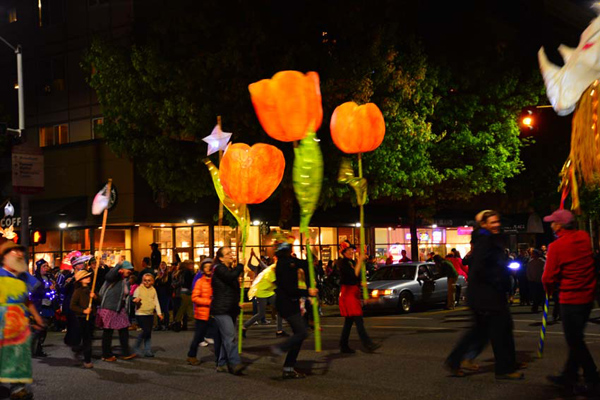 Luminary Procession, photo by Richard E Swanson