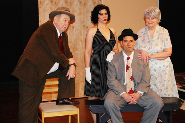 Thomas Lockhart, Deya Ozburn, Jeff Hirschberg and Anita Pirkle in The Trip to Bountiful
