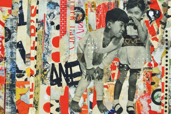 """""""Street Love,"""" mixed media by Evan Clayton Horback"""