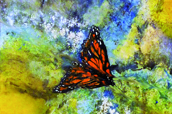 """Fly Away,"" painting by Lonnie L. Spikes Jr."