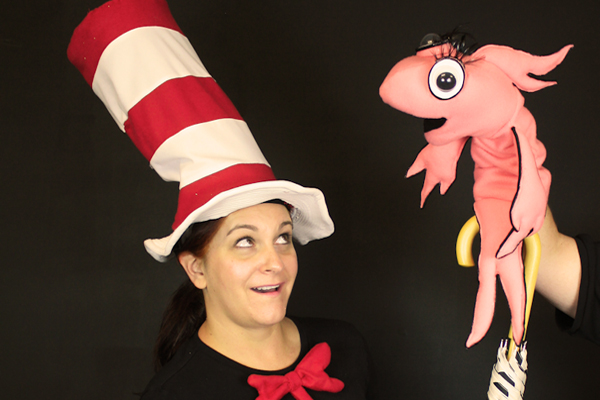 Heather R. Christopher as Dr. Seuss' The Cat in the Hat