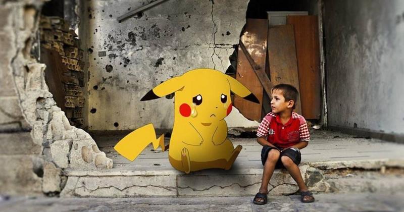 Children From Syria Cry for Help w/ Pokémon GO – SyriaGO version  النسخة السورية من #PokemonGO