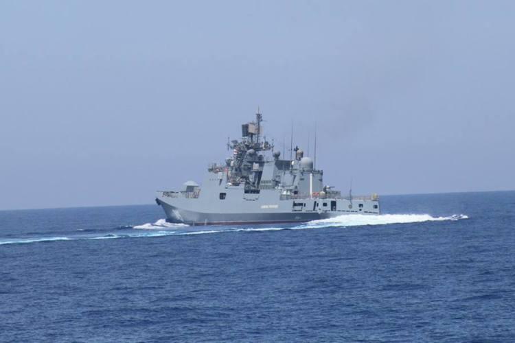 Η ρωσική υπέρ-φρεγάτα Admiral Grigorovich στο Ιόνιο Πέλαγος