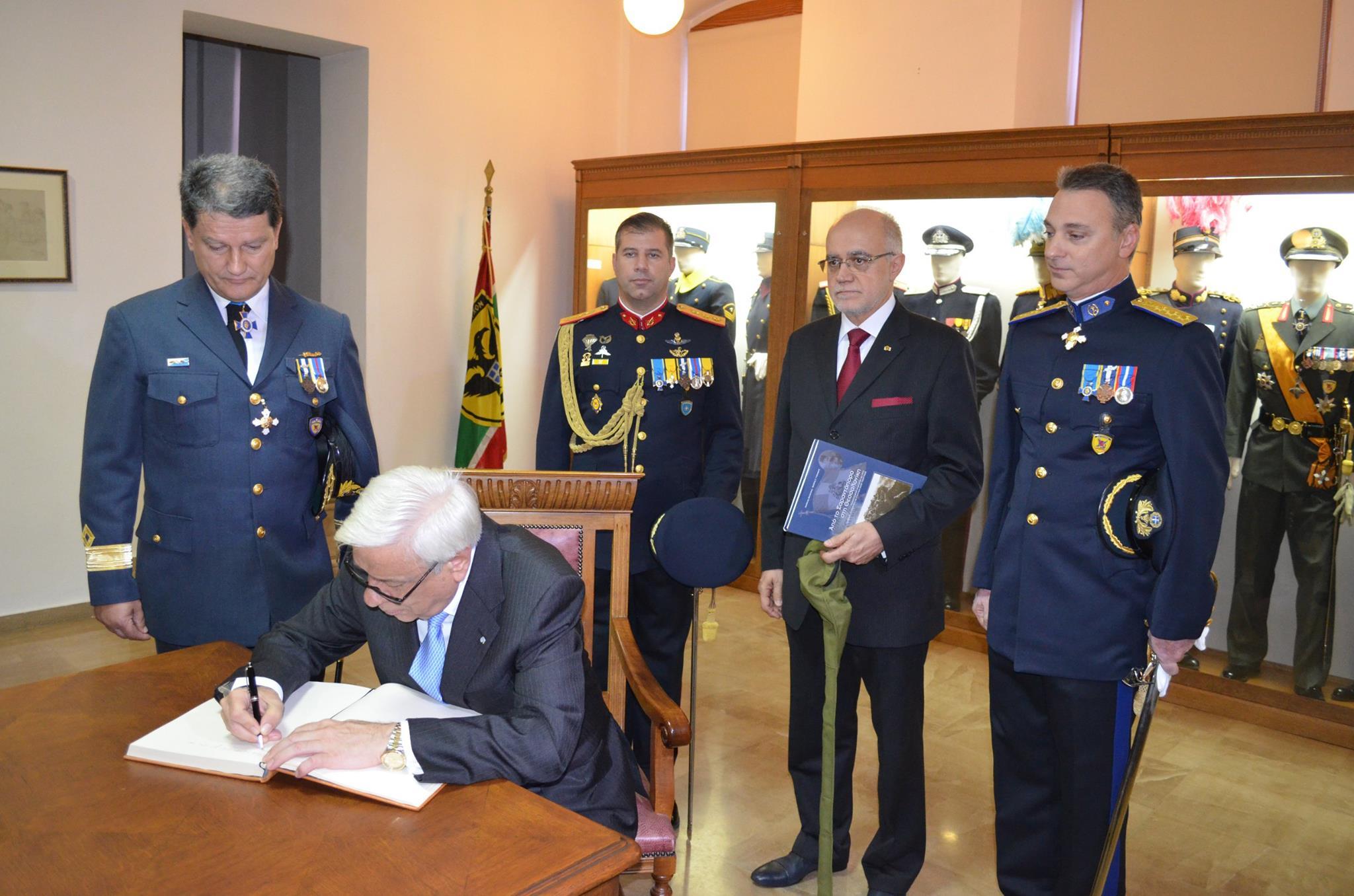 Η επίσκεψη του Προέδρου της δημοκρατίας στο Πολεμικό Μουσείο Θεσσαλονίκης