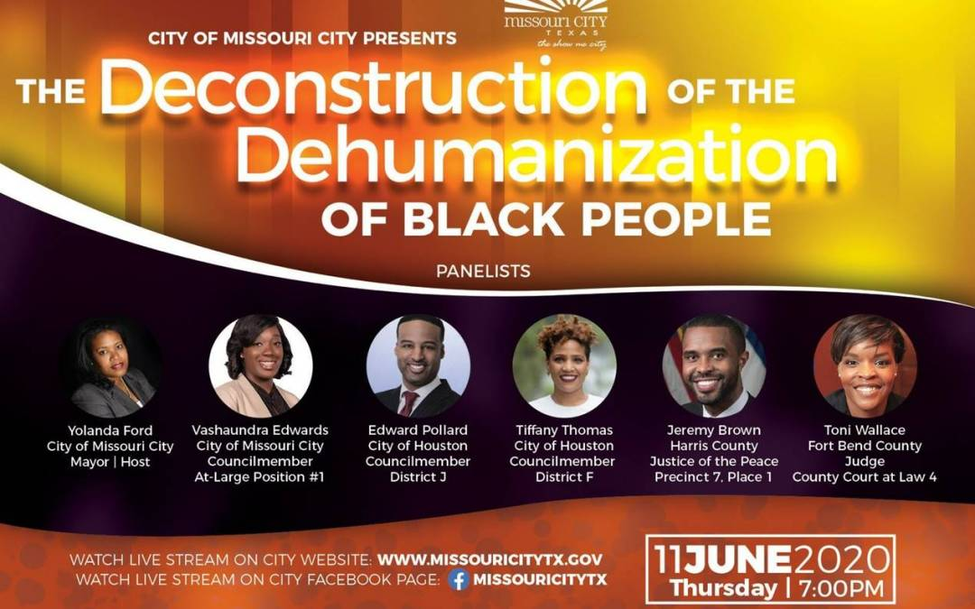"Virtual Panel Discussion: ""The Deconstruction of the Dehumanization of Black People"""