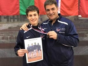 Robert Hondor, silver medal with them USA 2