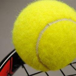 Tennisboll och tennisracket