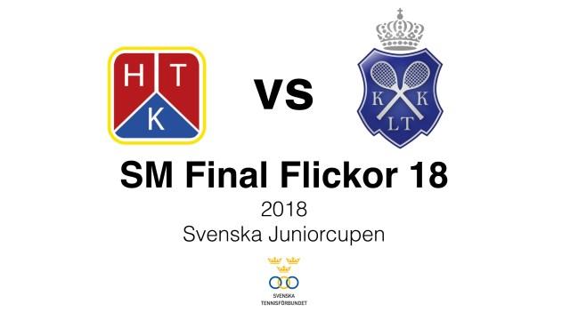 HTK tennis spelar SM final för flickor 18 år – på lördag mellan 16.00-18.00