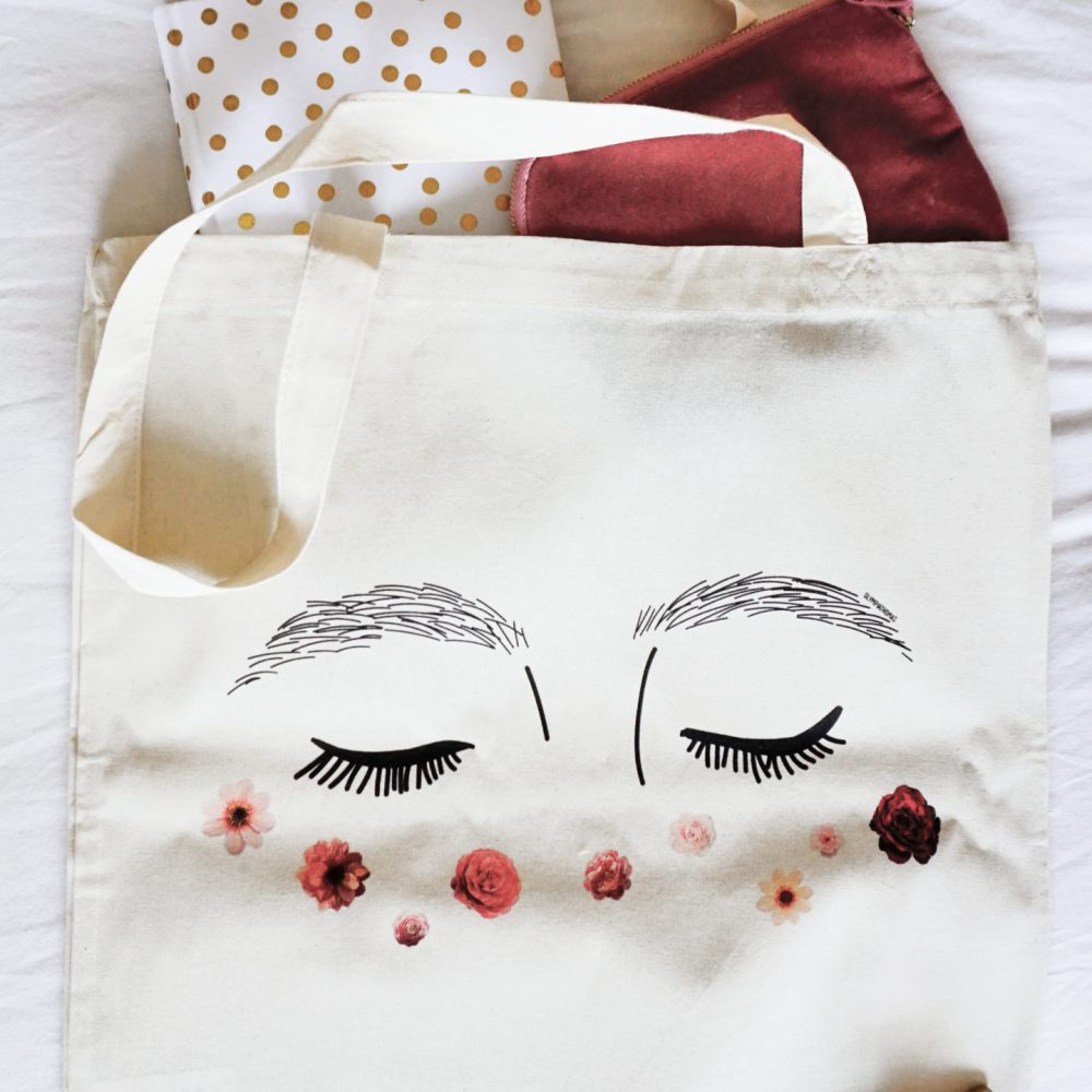 Tote bag – Tâches florales