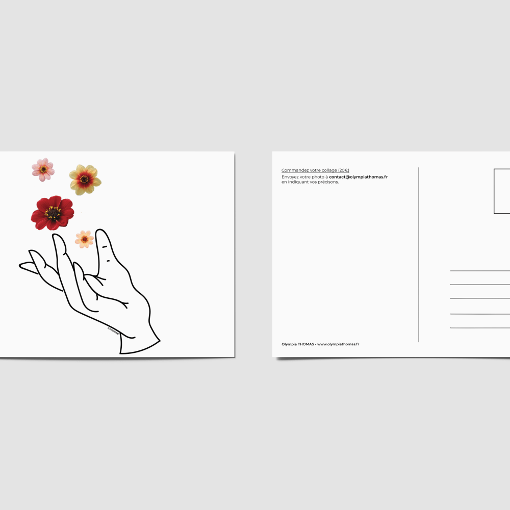 Carte postale – L'envol de fleurs