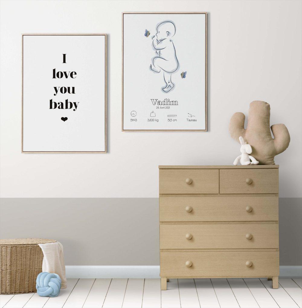 Affiche naissance personnalisée à imprimer 3