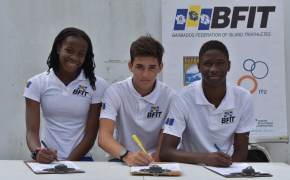 The Barbados Federation of Island Triathletes (BFIT), announces first beneficiaries of the Junior Emerging Athlete Program (JEAP)