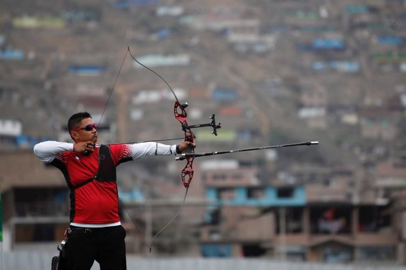 Archery athlete takes aim