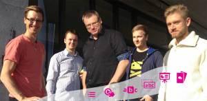 NDLA Interaktiv på møte med Joubel (h5p). Johannes Leiknes Nag til venstre og Knut Inge Skifjeld i midten.
