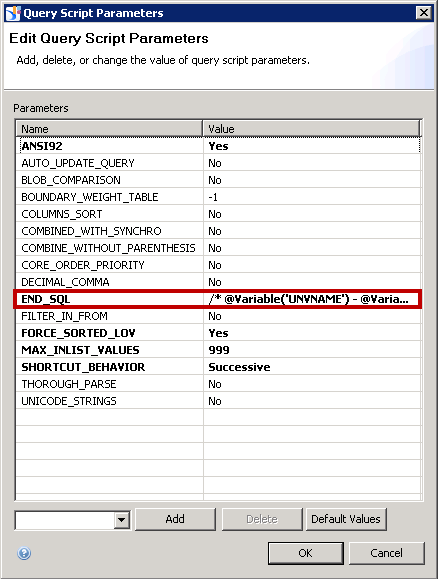 Information Design Tool END_SQL