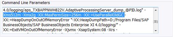 BI 4.1 APS Command Line Parameters