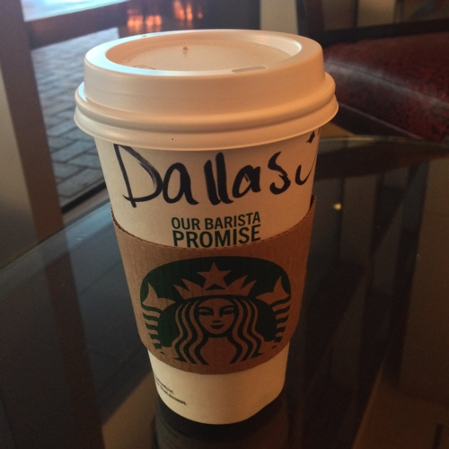 Starbucks Cup with Dallas Name 500
