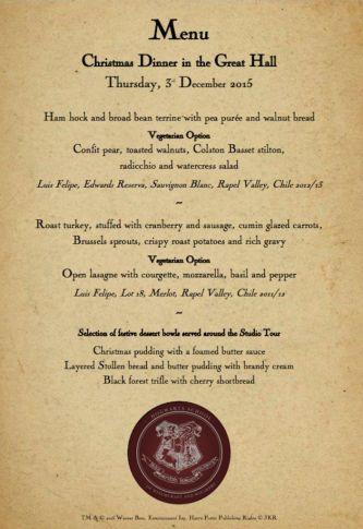 Un menu alléchant...
