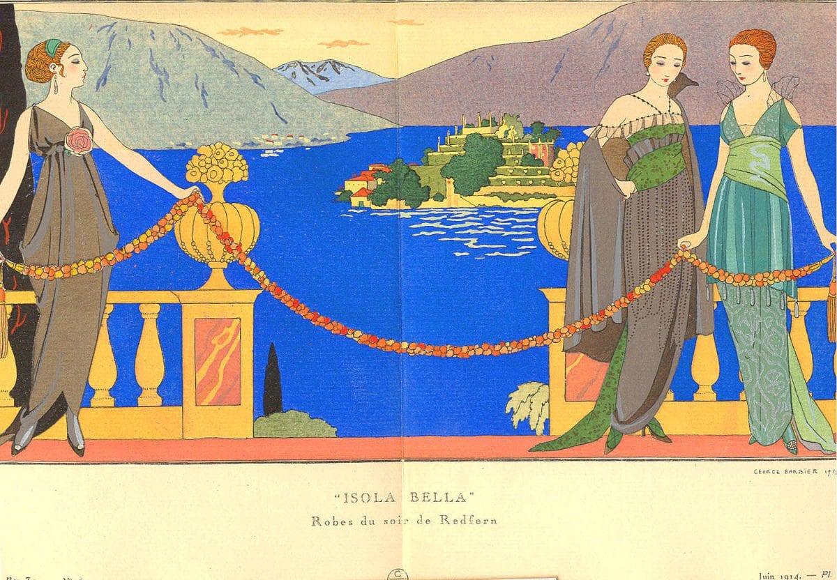 Le nantais Georges Barbier est un illustrateur de mode du mouvement Art Déco, ayant dessiné pour les plus grands modistes de son époque