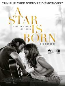 Affiche du film a Star is Born avec Lady Gaga et Bradley Cooper
