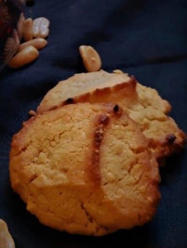 Cookies aux beurres de cacahuètes.