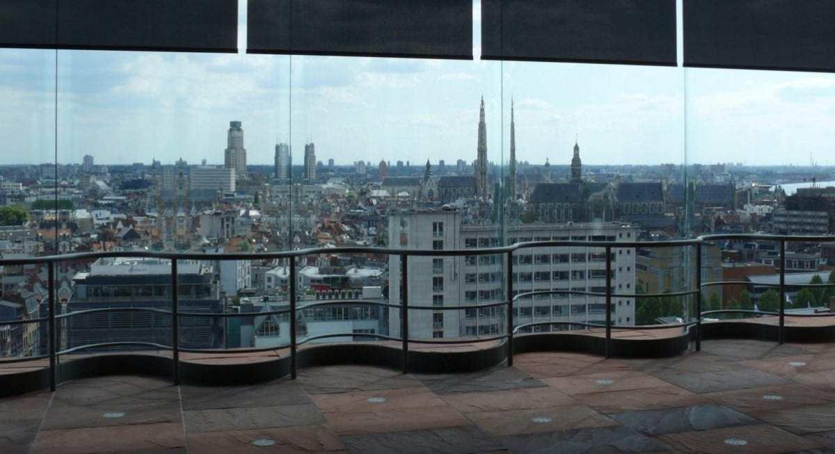 Depuis le MAS, panorama sur la ville d'Anvers