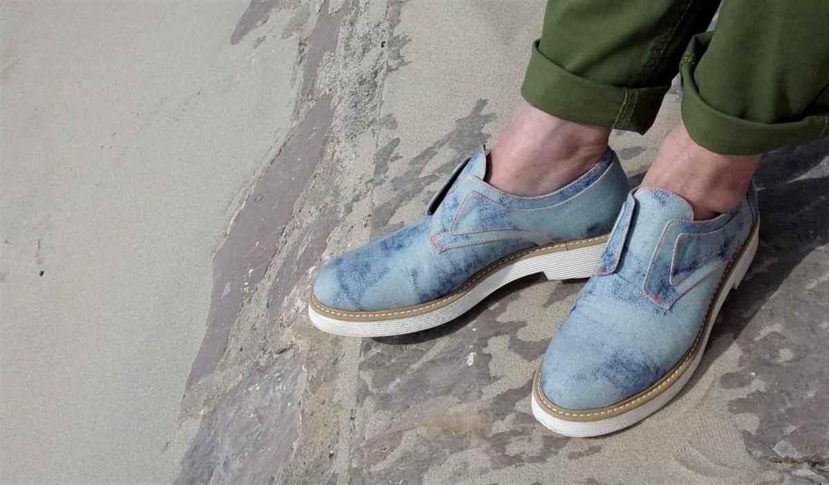 Chaussures vegan de ville bleues