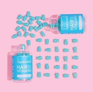 bonbon de vitamines pour les cheveux